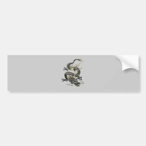 Dragón metálico etiqueta de parachoque