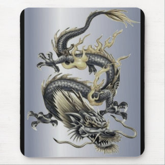 Dragón metálico mouse pads