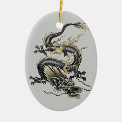 Dragón metálico ornamentos para reyes magos