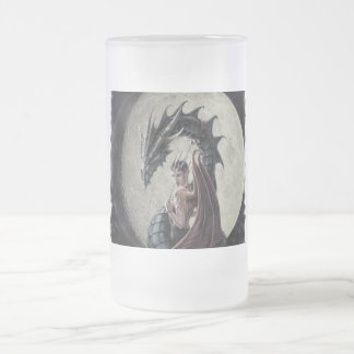 Dragon Mistress - Frosted Glass Stein Mugs