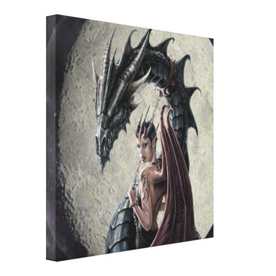 Dragon Mistress - Wrapped Canvas