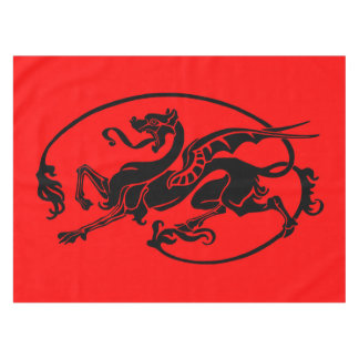 Dragón mítico, año del diseño del dragón mantel