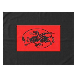 Dragón mítico, año del diseño del dragón mantel de tela
