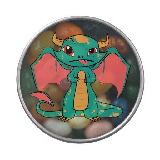 Dragón mítico con las alas jarrones de caramelos