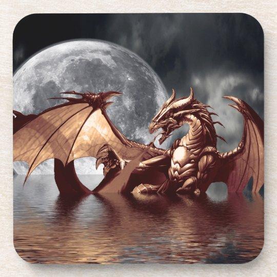 Dragon & Moon Fantasy Art Coasters