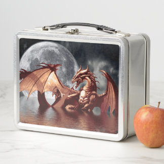 Dragon Moon Fantasy Art Metal Lunch Box