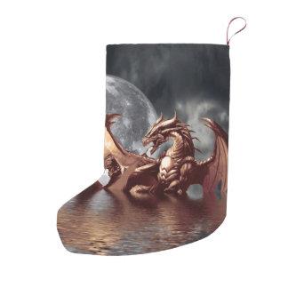 Dragon & Moon Fantasy Artwork Small Christmas Stocking