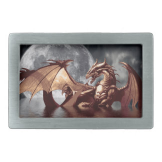 Dragon & Moon Fantasy Belt Buckle