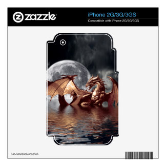 Dragon & Moon Fantasy Electronic Skins iPhone 3GS Decals