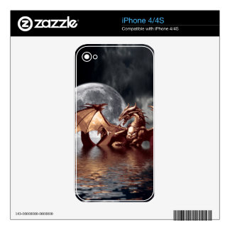 Dragon & Moon Fantasy Electronic Skins Decals For iPhone 4S