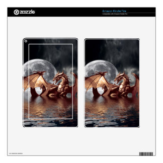 Dragon & Moon Fantasy Electronic Skins Skins For Kindle Fire