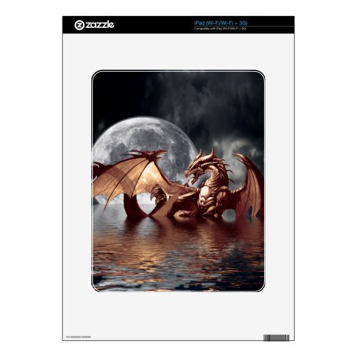 Dragon & Moon Fantasy Electronic Skins iPad Skin