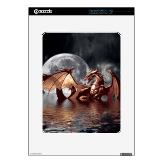 Dragon & Moon Fantasy Electronic Skins Skin For iPad