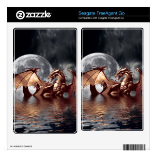 Dragon & Moon Fantasy Hard-drive Skin Decals For FreeAgent Go
