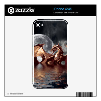 Dragon & Moon Fantasy Mythical iPhone 4 Skin