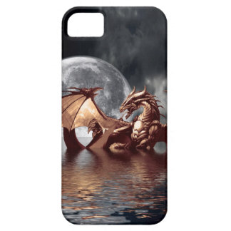 Dragon & Moon Fantasy Mythical iPhone Case iPhone 5 Cover
