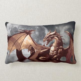 Dragon & Moon Fantasy Mythical Throw Pillow