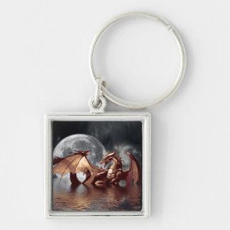 Dragon & Moon Keychain
