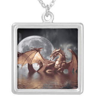 Dragon & Moon Necklace