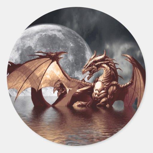 Dragon & Moon Stickers