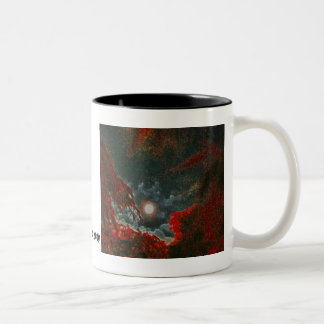 dragon moon Two-Tone coffee mug