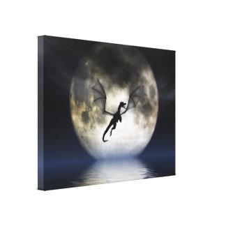 Dragon Moon Wrapped Canvas Canvas Print