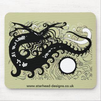 Dragón Mousemats (silueta) profundo del mar Alfombrilla De Ratones