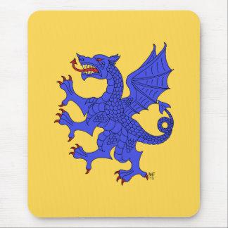 Dragón Mousepad (azul) desenfrenado