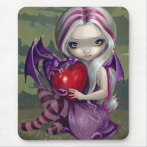 """Dragón"" Mousepad de la tarjeta del día de San Val"