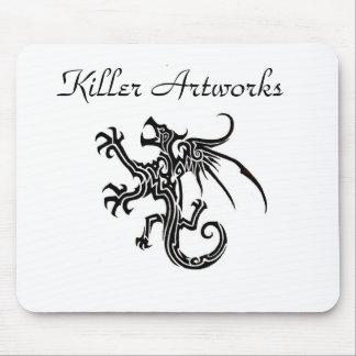 Dragón Mousepad de las ilustraciones del asesino Tapete De Raton