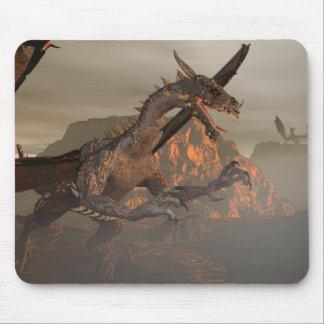 Dragón Mousepad del fuego Tapete De Raton