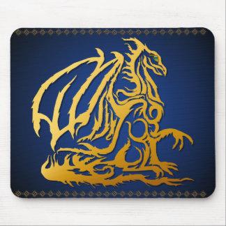 Dragón Mousepad del oro Tapete De Raton