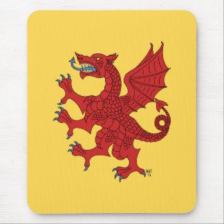 Dragón Mousepad rojo desenfrenado Alfombrilla De Raton