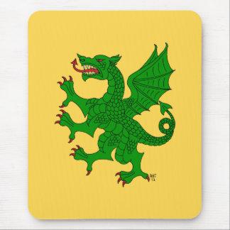 Dragón Mousepad verde desenfrenado Alfombrilla De Raton
