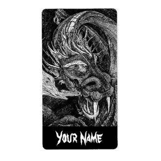 Dragon 'Name' label large