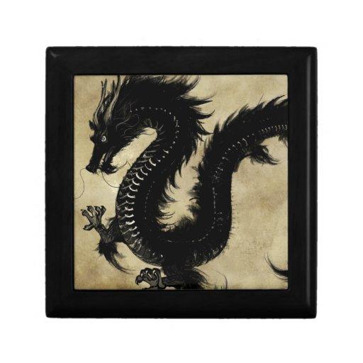 Dragón negro caja de regalo