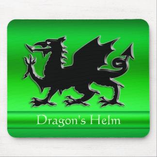 dragón negro de la Grabar en relieve-mirada en cro Alfombrilla De Ratones