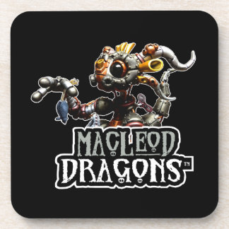 Dragón negro del MD Steampunk Posavasos De Bebida