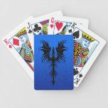 Dragón negro gótico en azul barajas