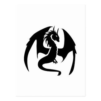 Dragón negro tarjeta postal