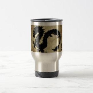 Dragón negro taza de café