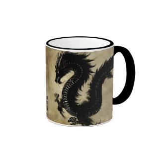 Dragón negro taza de dos colores