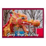 dragon new years greeting card