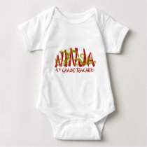 Dragon Ninja - 4th Grade Baby Bodysuit