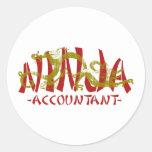 Dragón Ninja - contable Etiquetas Redondas