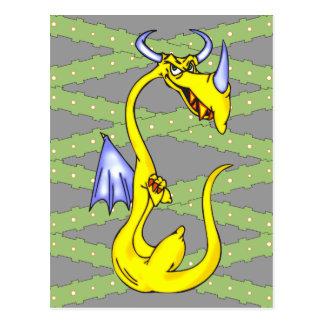 Dragón obstinado postal