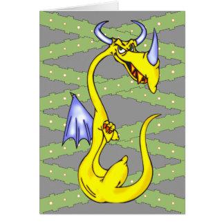 Dragón obstinado tarjeta pequeña
