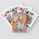 """Dragon of Autumn"" Fall Leaves Fantasy Art Bicycle Playing Cards"
