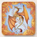 """Dragon of Autumn"" Fantasy Art Drink Coaster"