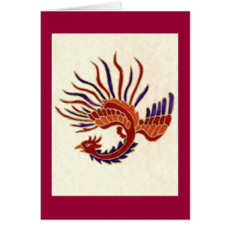DRAGON OF FIRE GREETING CARD